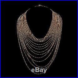 Cartier Draperie de Decollete 18k Yellow Gold Vintage Necklace 18 Rows