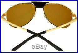 Cartier Edition SANTOS-Dumont Sunglasses Aviator Unisex Gold Polarized T8200889