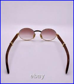 Cartier Giverny Vintage Gold Platinum Bubinga Wood Sunglasses Glasses Frames