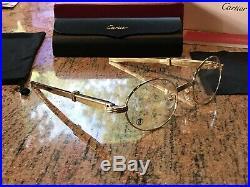Cartier Gold/Gold Straightback Glasses