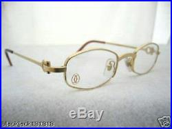 Cartier Gold Octagon Eyeglasses Glasses Authentic New T8100427