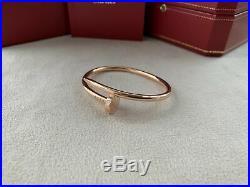 Cartier Juste Un Clou Bracelet Rose Gold Size 15