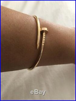 Cartier Juste Un Clou SM Bracelet 18K Pink Gold Size 15 Authentic