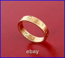 Cartier LOVE Ring Band Wedding Size 47 or 4 U. S. 18k Yellow Gold Screw Decor