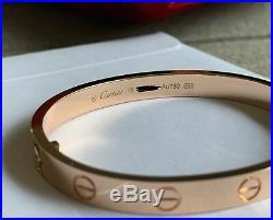 Cartier Love Bracelet 18K Rose Gold 15cm