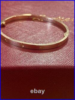 Cartier Love Bracelet 18K Yellow Gold Small 16 Size