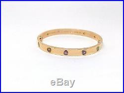 Cartier Love Bracelet Pink Gold 18k. Sapphires, Garnets, Amethysts 17 Size