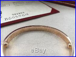 Cartier Love Bracelet Rose Gold Size 16 (New Screw System)