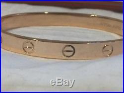 Cartier Love Bracelet Rose Gold Size 16 (New Screw System) OVERNIGHT SHIPPING