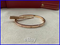 Cartier Love Bracelet SM Rose Gold Size 16