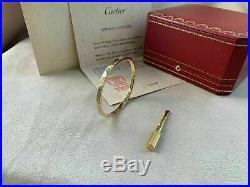 Cartier Love Bracelet SM Yellow Gold Size 17