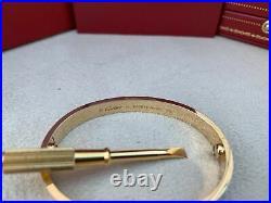 Cartier Love Bracelet Yellow Gold Size 15 (New Screw System)