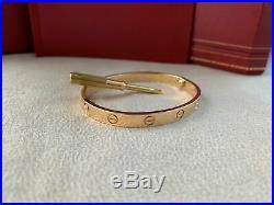 Cartier Love Bracelet Yellow Gold Size 17 (New Screw System)