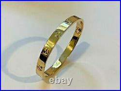 Cartier Love Bracelet Yellow Gold Size 17 New Screw System OVERNIGHT