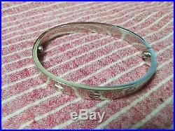 Cartier Love Bracelet in 18k White Gold Size 18