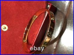 Cartier Mens Love Bracelet 18KT Yellow Gold Size 21 VINTAGE
