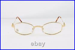 Cartier Octagon Gold Eyeglasses T8100427 Frames Authentic France New 45mm