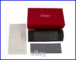 Cartier Oval Half Rim Pale Gold Eyeglasses T8100608 Frames Authentic France New