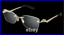 Cartier Panthere Eyeglasses 18k Gold Rimless EYEWEAR Sunglasses