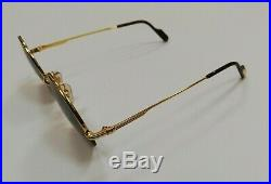 Cartier Paris -Mayfair- Rare 18k Gold plated Round sunglasses Made in France
