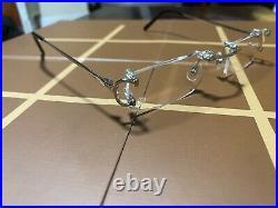 Cartier Rimless C Classic Prescription Eyeglasses White Gold CT0028RS