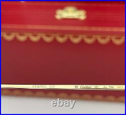 Cartier Rimless Eyeglasses CT0070O 001 SOLID 18K Yellow Gold Clear Demo Lens 56