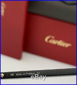 Cartier Santos De Cartier Sunglasses Gold Wood Gray Polarized Lens CT0097S 001