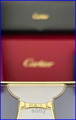 Cartier Santos Sunglasses CT0230S 003 Gold Frame Golden Mirror Gray Lens 59mm