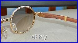 Cartier Smooth Acrylic Bezel 19 Rosewood Buffalo C Décor Sunglasses Certificat