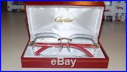 Cartier Smooth Acrylic LIMITED 2019 Red Buffalo C Décor Sunglasses Shabowhita