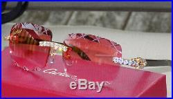 Cartier Smooth HoneyBerry Acrylic LMTD 2020 Horn Buffalo C Décor Sunglasses