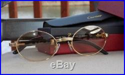 Cartier Smooth Horn Buffalo Brown Light Cafe Lens C Décor Sunglasses