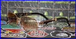 Cartier Smooth Horn Buffalo Square Brown Lens C Décor Sunglasses Shabowhita