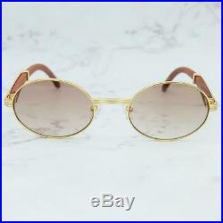 Cartier Smooth Rosewood Buffalo Barren Maroon Brown Lens C Décor Sunglasses