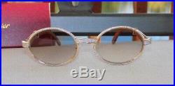 Cartier Smooth Rosewood Buffalo Custom Bezel Cafe Lens C Décor Sunglasses