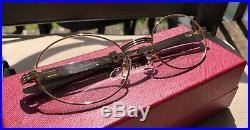 Cartier Smooth Titanium Steel SP Buffalo Clear C Décor Sunglasses