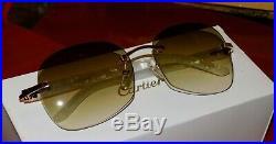 Cartier Smooth White Aztec Brown Lens Buffs Buffalo C Décor Sunglasses
