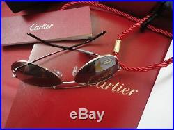 Cartier Sunglasses Santos Dumont Aviator Pilot L. E, Jewel Worldmap Gold Horizon