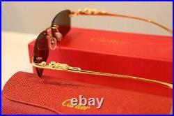 Cartier Sunglasses brown jaguar sunglasses