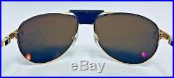 Cartier T8200889 Santos Dumont 61mm Gold Men's Rimmed Sunglasses