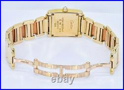 Cartier Tank Française Lady's Diamond Yellow Gold Watch-Box and Papers Ref2364