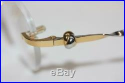 Cartier Trinity 18K Gold Plated 2-Tone Love Knot Rimless Eyeglasses 52-18-135