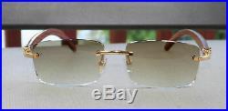 Cartier Wood Bengali Zebra Gold Sunglasses