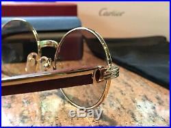 Cartier Wood/Gold Sunglasses