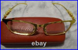 Cartier clear gold glasses