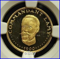 Chad Independence Anniversary gold 1000 Francs 1970-NI PR63 Ultra Cameo NGC