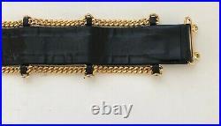 Chanel BLACK leather /GOLD belt. Vintage