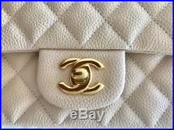 Chanel Beige Quilted Caviar Mini Flap Bag Gold Hw