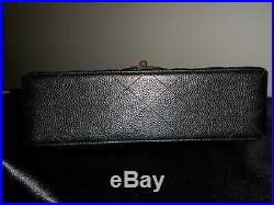 Chanel Black Caviar Small Classic Double Flap Bag with Gold Hardware
