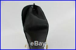 Chanel Black Satin Lambskin Single Flap Crossbody Vintage Bag Bijuox chain Gold
